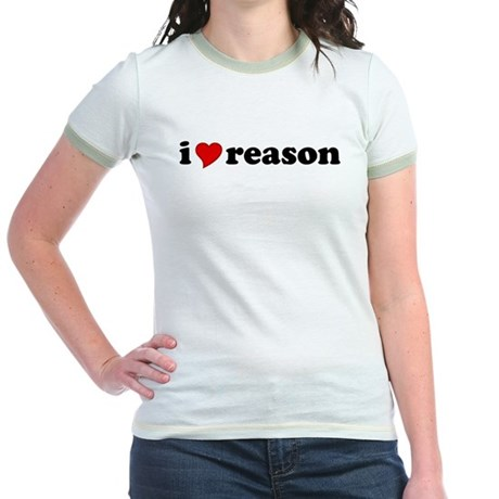 I Love Reason Jr. Ringer T-Shirt