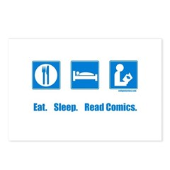Eat. Sleep. Read comics Postcards (Package of 8)