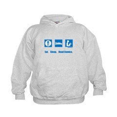 Eat. Sleep. Read comics Kids Hoodie