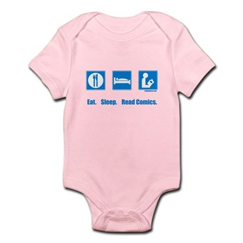 Eat. Sleep. Read comics Infant Bodysuit | Gifts For A Geek | Geek T-Shirts