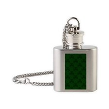 Shamrock iPhone 4/4S Snap Case Flask Necklace