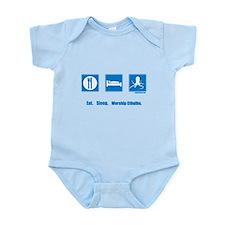 Eat. Sleep. Worship Cthulhu Infant Bodysuit
