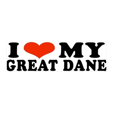 IHeartGDane.jpg 20x6 Wall Decal