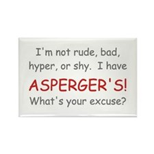 I Have Asperger's! Rectangle Magnet (100 pack)