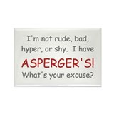 I Have Asperger's! Rectangle Magnet