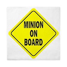 Minion on Board Car Sign Queen Duvet