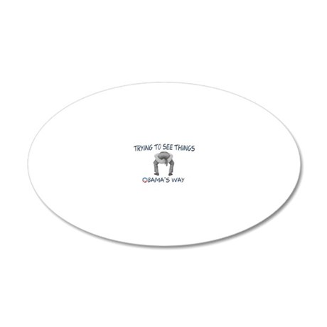 Trying To See Things Obamas  20x12 Oval Wall Decal