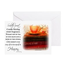 Quiet, Tea, and Books Greeting Card