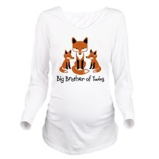 big brother of twins Long Sleeve Maternity T-Shirt