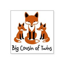 "Big Cousin of Twins - Mod F Square Sticker 3"" x 3"""