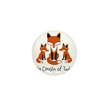 Big Cousin of Twins - Mod Fox Mini Button