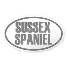 Sussex Spaniel Oval Decal