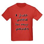 Peed In Pants Kids Dark T-Shirt