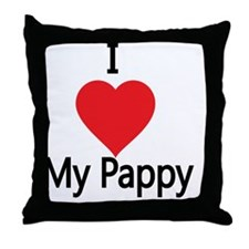 I love my Pappy Throw Pillow