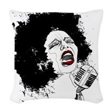 SINGER Woven Throw Pillow