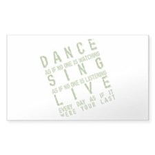 Dance Like no one is Watching Sticker (Rectangular