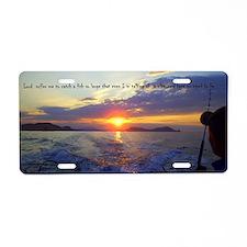 Fishermans Prayer Aluminum License Plate