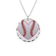 cute Baseball Heart Necklace