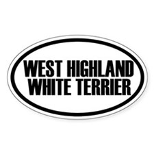 West Highland White Terrier Oval Pegatinas