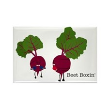 Beet Boxin' Rectangle Magnet