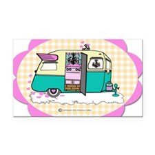 lil vintage trailer Rectangle Car Magnet