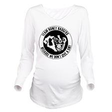 Team Honey Badgers R Long Sleeve Maternity T-Shirt