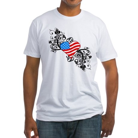 4th Of July Independence Day Fitted T-Shirt