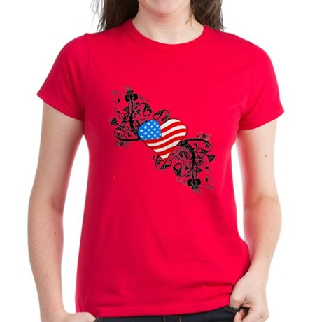 4th Of July Independence Day Women's Dark T-Shirt