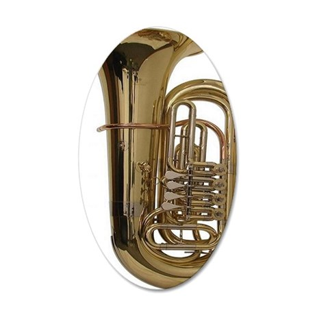 tuba-3 35x21 Oval Wall Decal