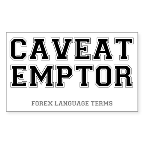 FOREX LANGUAGE TERMS - CAVEAT Decal