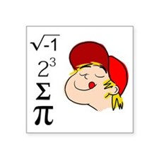 "I 8 Sum Pi Square Sticker 3"" x 3"""