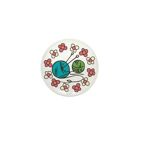 Balls of Yarn Mini Button