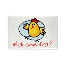Which Came First? Rectangle Magnet