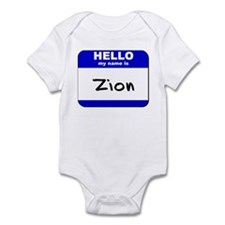hello my name is zion  Infant Bodysuit