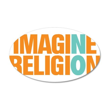 Imagine No Religion 35x21 Oval Wall Decal