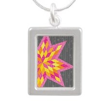Morgan's Star Silver Portrait Necklace