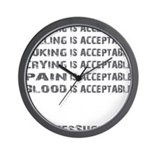 ACCEPTABLE - BLACK Wall Clock