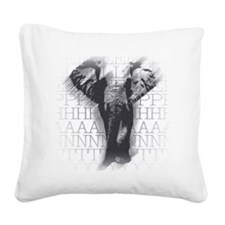 hg-pull_elephant-face Square Canvas Pillow