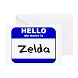 hello my name is zelda  Greeting Cards (Package of