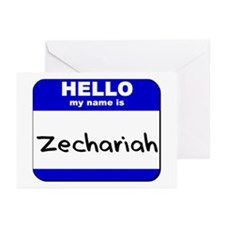 hello my name is zechariah  Greeting Cards (Packag