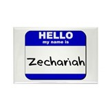 hello my name is zechariah Rectangle Magnet