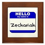 hello my name is zechariah  Framed Tile