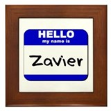 hello my name is zavier  Framed Tile