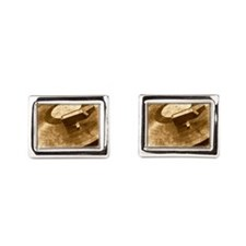 Real Music Only Vinyl Cufflinks