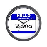hello my name is zaria  Wall Clock