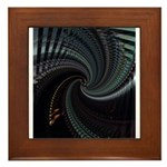 Dark Spiral Framed Tile