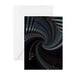 Dark Spiral Greeting Cards (Pk of 10)