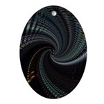 Dark Spiral Oval Ornament