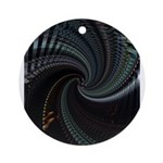 Dark Spiral Ornament (Round)