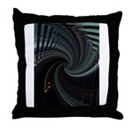 Dark Spiral Throw Pillow